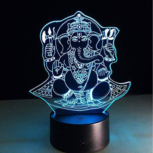 achten 3d led nachtlicht visuelle 7 farbwechsel illusion tisch schreibtischlampe kinder geburtstagsgeschenk ()