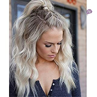 Vebonnie Dirty Blonde Lace Front Wigs Ombre Brown Roots Synthetic Wig