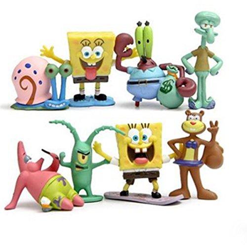 Patrick Von Spongebob - Spongebob-Figuren, 8Stück, enthält u.a. Thaddäus Q.
