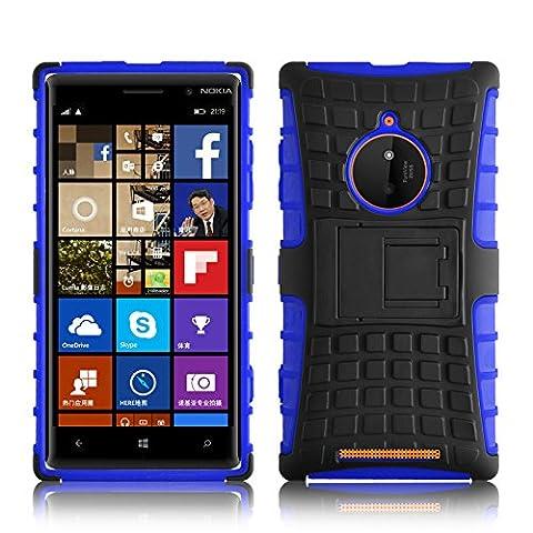 Lumia 830 Hülle, JAMMYLIZARD [ ALLIGATOR ] Doppelschutz Outdoor-Hülle für Nokia Lumia 830, BLAU