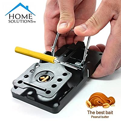Home Solutions™ Mouse Trap 6 Pack Kill Mice Catcher, Easy to Set Reusable Control Snap Traps