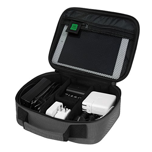 Bagsmart design portatili accessori elettronici, scatole di borse da viaggio grigio