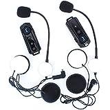 Fodsports 1000M BT Interphone motocicleta casco impermeable Bluetooth Headset Intercom con FM Radio estéreo Música
