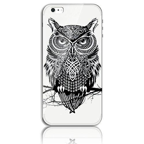 Blitz® CHAT motifs housse de protection transparent TPE iPhone Félix Cat M2 iPhone 6 6s hibou M5