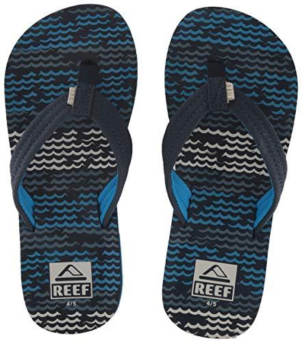 Reef Jungen Kids Ahi Zehentrenner, Mehrfarbig (Blu Horizon Wav BZW), 37/38 EU