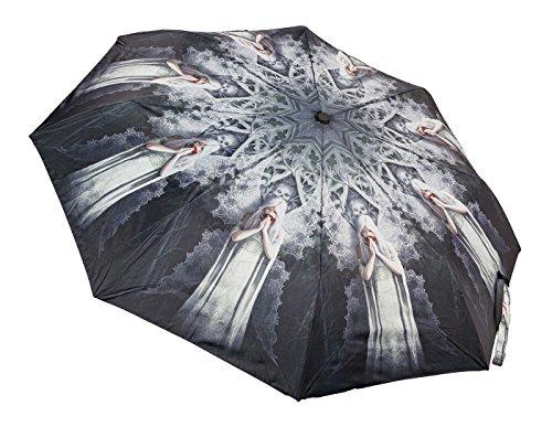 Regenschirm mit Gothic Engel - Only Love Remains von Anne Stokes - Elfe Fee Taschenschirm