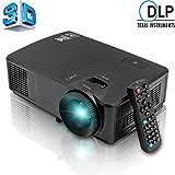HD DLP 3600 Lumens 3D Ready Projecteur Mini Cinéma Maison