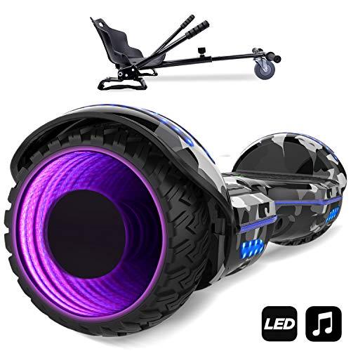 MARKBOARD Hoverboard,Elektro Scooter 6,5 LED Elektro Scooter E-Balance E-Skateboard Elektroroller Bluetooth LED (Armeegrün)