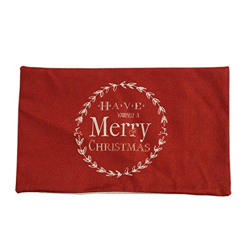 Leeafly WeihnachtenDeko Weihnachtskissen Sofa Taille Throw Kissenbezug Home Decor ohne Füllung-Zierkissenhülle Dekorative Kissenbezug(rot)