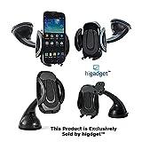 #4: higadgetTMPremium Mobile Phone Car Mount Holder, 360° Rotable Holder Secure Mobile Phone Stand Random Colors