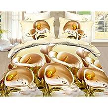 3d juego de ropa de cama doble King size edredón + 2 fundas de almohada 3