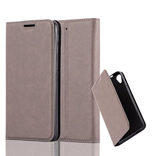Cadorabo Hülle für HTC Desire 626G - Hülle in Kaffee BRAUN – Handyhülle mit Magnetverschluss, Standfunktion und Kartenfach - Case Cover Schutzhülle Etui Tasche Book Klapp Style