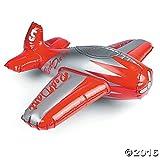 EventExpress24 Flugzeug aufblasbar - Propellermaschine - Silber Rot - Spielzeug - Kinderspielzeug