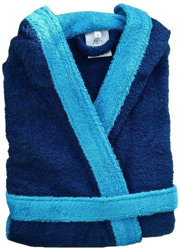 Home Basic Kids - Albornoz con capucha para niños de 14 años, color marino y azul