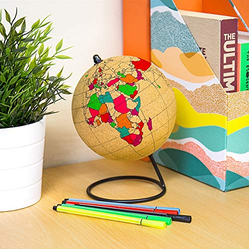 Gift Republic Farbe Globe, Kork, braun, 14x 14x 20,9cm