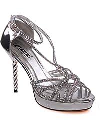 Unze Sandales de soirée Strappy Femmes de Haila