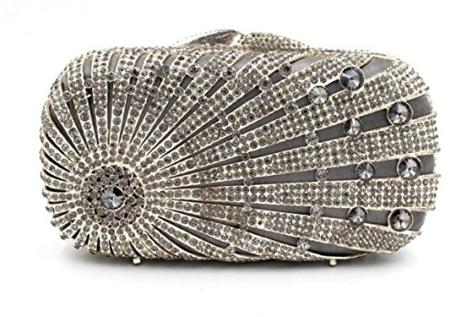 Lady Abendessenbeutel Kristall-Diamant-Diamant-Mappe Brautbeutel Handtasche Bankett-Paket color 3