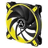 Arctic BioniX F120-120 mm Gaming Gehäuselüfter mit PWM PST, Case Fan mit PST-Anschluss (PWM Sharing Technology), Reguliert RPM synchron - Gelb