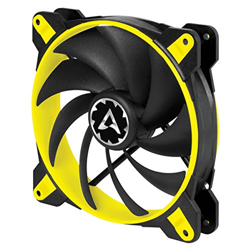 Arctic BioniX F120-120 mm Gaming Gehäuselüfter mit PWM PST   Case Fan mit PST-Anschluss (PWM Sharing Technology)   Reguliert RPM synchron - Gelb (Core-lager)