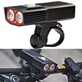 HQ's perfect store Équipement de vélo T6 1000lm lumière Blanche de Charge USB LED Lampe Phare vélo Avant avec 3 Modes, Taille: 10,5 * 5 * 2.6cm Sûr et Pratique