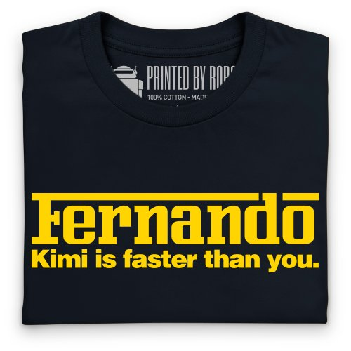 Kimi vs Fernando T-Shirt, Damen Schwarz