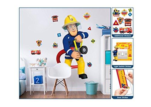 Familie24 XXL Wandsticker AUSWAHL Kindertapete Tapete Wanddekoration Wandbild Wandaufkleber Wandtattoo Feuerwehrman Sam Spiderman Minnie Micky (Feuerwehrmann Sam)