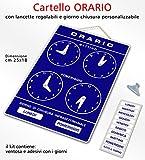 Politarghe Pancarte avec horaires d'ouverture réglables pour magasin, bureau, laboratoire ou bar, Or