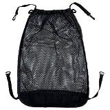 Little Sporter Kinderwagen Tasche Einkaufstasche Universalnetz mit Sichtschutz und Ankerverschluss Kinderwagentasche Für Speicher Babysachen Schwarz