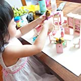 Domybest Puppenhaus Holz Mädchen vorgeben Spiel Haus Möbel Familienzimmer Miniatur (Etagenbett) Test
