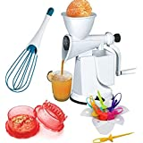Combo Of Manual Fruit Juicer, Magic Whisk, Multi Crusher And Barbie Doll Frut Fork