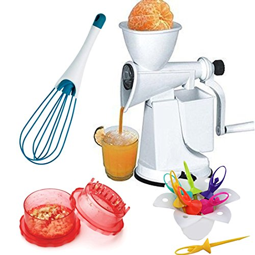 Combo Of Manual Fruit Juicer, Magic Whisk, Multi Crusher And Barbie Doll Frut Fork
