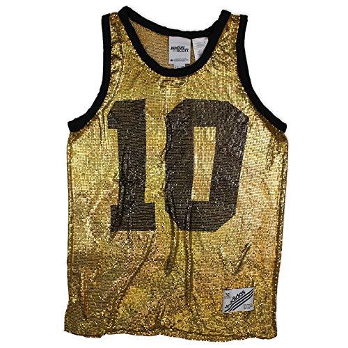 adidas Originals by Jeremy Scott Damen Metal Mesh Shirt Tank Top Gold, Größe:32, Farbe:Gold