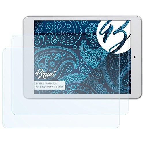 Bruni Schutzfolie für Blaupunkt Polaris Office Folie, glasklare Bildschirmschutzfolie (2X)