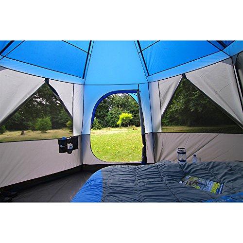 Coleman Zelt für 8 Personen Octagon 8 mit 7 Fenstern und patentierter D-Tür (Wasserdicht WS 2.000 mm) - 5