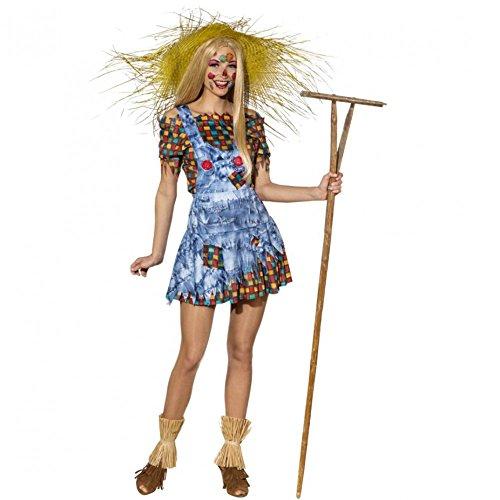 Kostüm Vogelscheuche Gr. 34- 44 Damen Latzrock Bluse Karneval Bauernhof (38/40) (Party Kostüm Internationalen Versand)