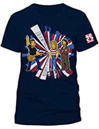 The Simpsons Special Edition TV Music Mens Navy T-Shirt