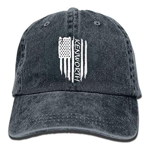 048eae2b5e4 American Flag Kenworth Adjustable Baseball Caps Denim Hats Cowboy Sport  Outdoor