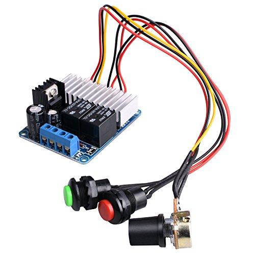 DC Motor Drehzahlregler , Quimat 7-30V DC 10A 300W PWM Adjustable Geschwindigkeit Reversible PWM Schalter DC Motortreiber Umschalter (1 Geschwindigkeit Motor)