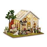 Youtaimei Prodotto soddisfacente Fai da Te Dollhouse Christmas Model Miniature Kit Giocattoli, Artigianato Mini Doll Room Decor Sets for Girls Cabin Fairy Tale Home Decoration House
