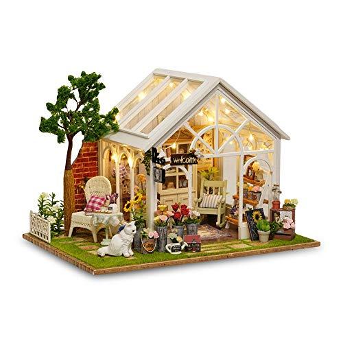Youtaimei Zufriedenstellendes Produkt DIY Puppenhaus Weihnachten Modell Miniatur Kits Spielzeug, Handwerk Mini Puppe Room Decor Sets Für Mädchen Kabine Märchen Dekoration Haus (Thema Kabine Dekoration)