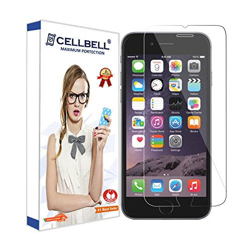 CELLBELL Tempered Glass Screen Protector for Iphone 7 with Installation Kit(Clear Transparent)