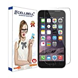 #10: CELLBELL Tempered Glass Screen Protector for iPhone 7 with Installation Kit (Clear Transparent)