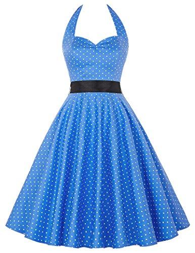 Damen 1950er Style Geburtstagkleider Knielang Sommerkleid XS CL4599-2 Kleidung Von 1950
