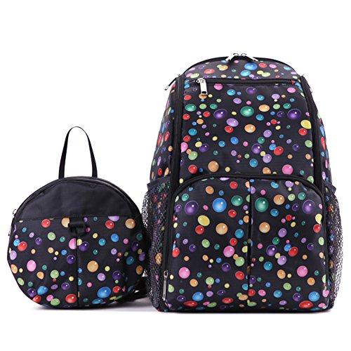 Samber Eltern und Kind Baby Kinder Rucksack Tasche 2 Stück Multifunktions Anti Verloren Schwarz