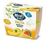 Hero Baby Tarrinas de Puré Multifruta Selecta para Bebés a partir de 4 meses Pack de 4 x 100 g