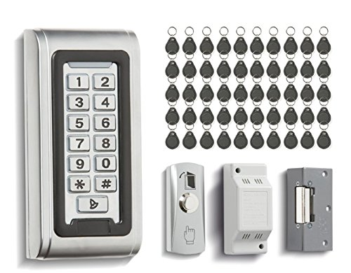 BEL1 - BELL SYSTEM DOOR ENTRY ACCESS CONTROL PR50X KEYPAD KIT WITH 50 FOBS INTEGRATED PROXIMITY READER 1000 USERS IP68 SLIM DESIGN by Bell System (Proximity Door Entry Access)