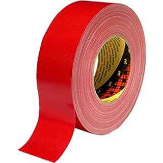 3M Premium Gewebeklebeband 389, rot, 50 mm x 50 m (1-er Pack)