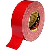 3M 7000111486 Scotch Gewebeklebeband, 389, 50 mm x 50 m, 0,26 mm, Rot