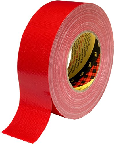 3M 7000111484 Scotch Gewebeklebeband, 389, 25 mm x 50 m, 0,26 mm, Rot (36-er Pack)