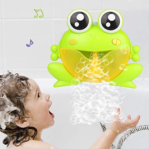 n Boot Badespaß Zeit Großes Geschenk Bath Toys für Baby,Bubble Machine Big Frogs Automatische Bubble Maker Gebläse Musik Badespielzeug für Baby ()